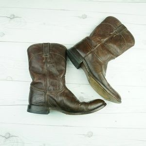 Justin 8D Brown Leather Western Cowboy Boots